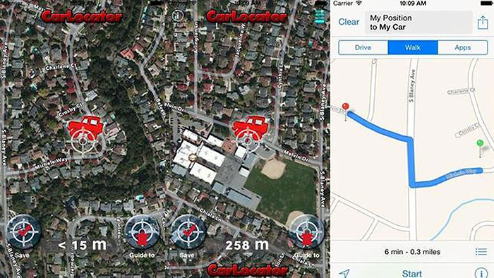 Apps conducción MY CAR LOCATOR