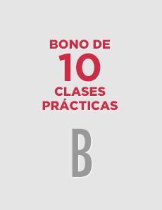 Bono de 10 clases prácticas para B
